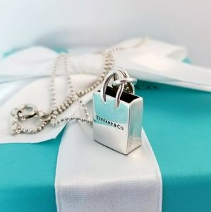 Tiffany and Co. Shopping bag pendant necklace 925